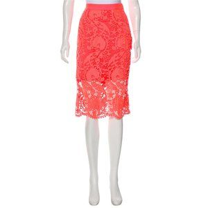 Miguelina Lace Pencil Skirt